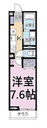 JR京浜東北・根岸線 さいたま新都心駅 徒歩9分の賃貸アパート 2階1Kの間取り