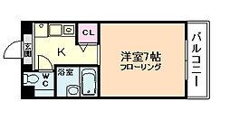 ブルグリンコート梅田北[6階]の間取り