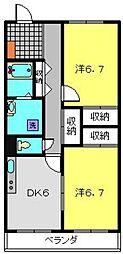 神奈川県横浜市神奈川区白幡西町の賃貸マンションの間取り