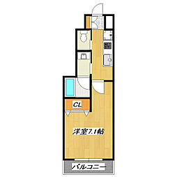 ワイズコートIII[1階]の間取り