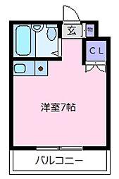 レジデンスヤマダ[3階]の間取り