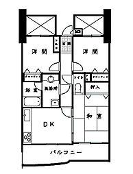 ロマネスク箱崎タワーホームズ N棟[903号室]の間取り