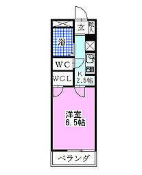 レオパレス新鎌ヶ谷KIYOTA[303号室]の間取り