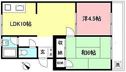 東京都杉並区大宮1丁目の賃貸マンションの間取り