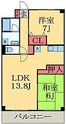 京成本線 ユーカリが丘駅 徒歩5分の賃貸マンション 1階3LDKの間取り