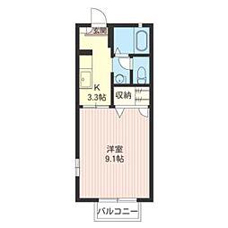 エーデル桜 B[203号室]の間取り