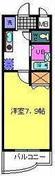 大阪府堺市中区東山の賃貸マンションの間取り