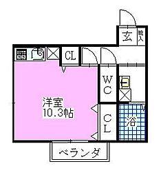 千葉県船橋市印内3丁目の賃貸アパートの間取り