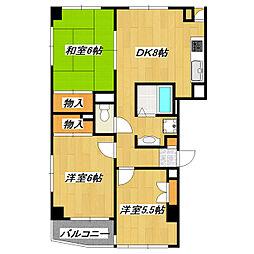 ツインタワー南篠崎[4階]の間取り