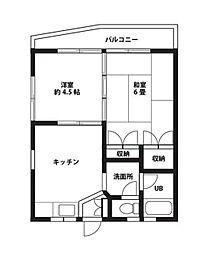 サンフラッツ[2階]の間取り