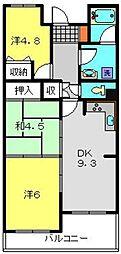 二俣川ハイツ[105号室]の間取り