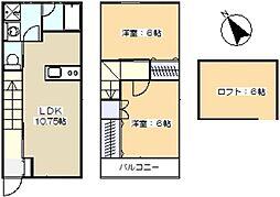 [テラスハウス] 神奈川県川崎市宮前区野川 の賃貸【/】の間取り