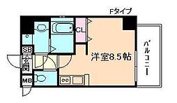 エスライズ梅田北[4階]の間取り