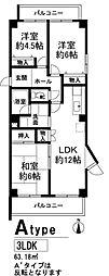 アクティハイツ 宝塚[305号室]の間取り