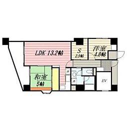 ロワールマンションアール板付壱番館[5階]の間取り