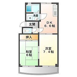 愛知県豊橋市新栄町字東小向の賃貸マンションの間取り