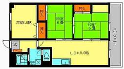 ユアーズマンション21[402号室]の間取り