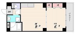 カーム鷹取[7階]の間取り