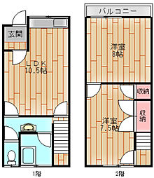 [一戸建] 大阪府大阪市住之江区御崎4丁目 の賃貸【/】の間取り