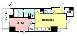 京王線 初台駅 徒歩3分の賃貸マンション 4階1LDKの間取り