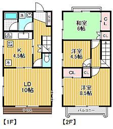 [テラスハウス] 東京都杉並区阿佐谷北3丁目 の賃貸【/】の間取り
