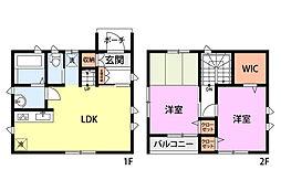 JR信越本線 長岡駅 徒歩10分の賃貸一戸建て 2LDKの間取り