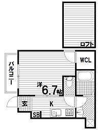 エクセルシオ須磨[1階]の間取り