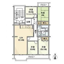 東京都多摩市貝取2丁目の賃貸マンションの間取り