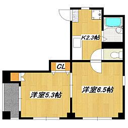 イーストハイム[2階]の間取り
