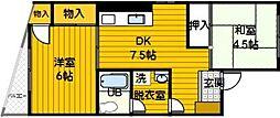 成清ビル[301号室]の間取り