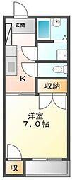 平成インタービル[302号室]の間取り