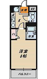 ローレル鴫野[1階]の間取り