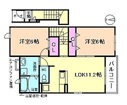 プロムナード笹部II[2階]の間取り
