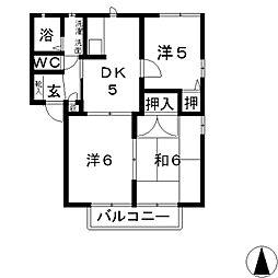 ブランシェ C[2階]の間取り
