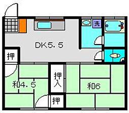 武美荘A[1階]の間取り
