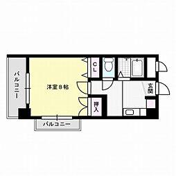 福岡県福岡市早良区飯倉2丁目の賃貸マンションの間取り