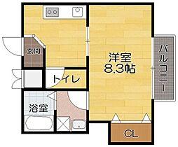 滋賀県長浜市平方町の賃貸アパートの間取り