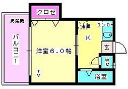 カスタシオン横手[102号室]の間取り