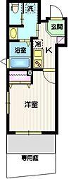(仮称)目黒本町5丁目計画 1階1Kの間取り