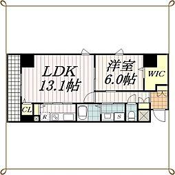千葉県千葉市中央区中央2丁目の賃貸マンションの間取り