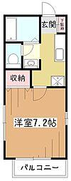 東京都東大和市向原6丁目の賃貸アパートの間取り