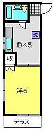 神奈川県横浜市南区中島町1丁目の賃貸アパートの間取り