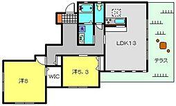 神奈川県横浜市戸塚区汲沢1丁目の賃貸マンションの間取り