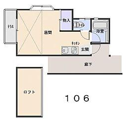 クリスタルハイツ[106号室]の間取り