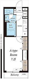 JR常磐線 北松戸駅 徒歩16分の賃貸アパート 1階1Kの間取り