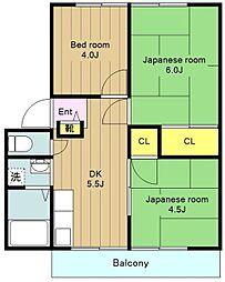 神奈川県横浜市瀬谷区橋戸3丁目の賃貸アパートの間取り