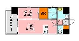 仮称)LANDIC K2620 8階1LDKの間取り