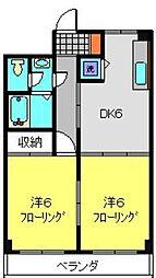 TAハウス[302号室]の間取り