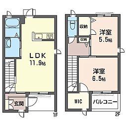 (仮)平塚市北金目3丁目シャーメゾンB[103号室]の間取り