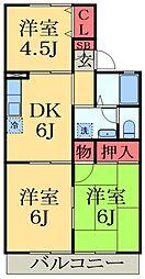千葉県千葉市緑区あすみが丘4丁目の賃貸アパートの間取り